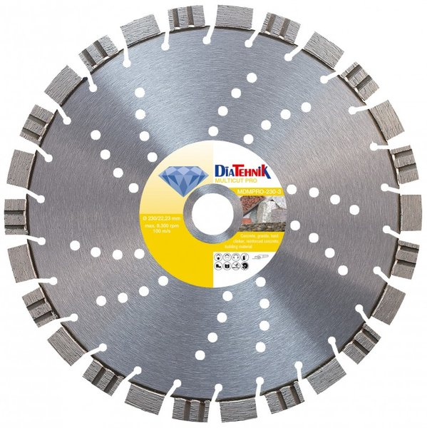 Disc diamantat MulticutPRO 300x30mm pentru diverse materiale [MDMPRO-300-5]